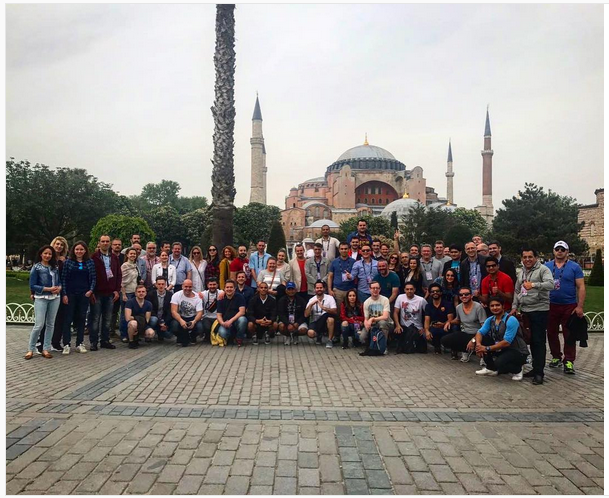 Some of the group who were lucky enough to have an extra day in Istanbul and who joined the sightseeing tour