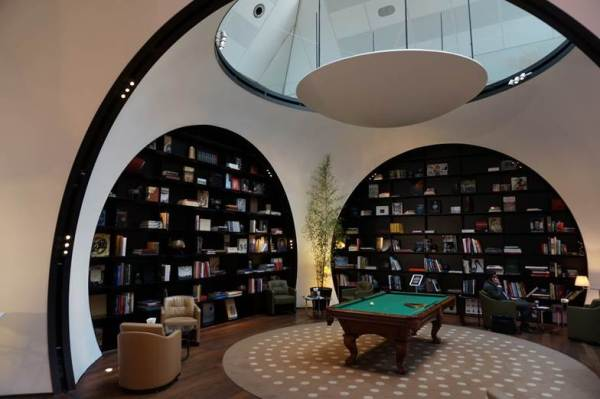The Libary and Pool table area within the VIP Lounge
